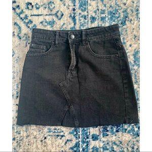 Primark Black Denim Skirt | Size 4